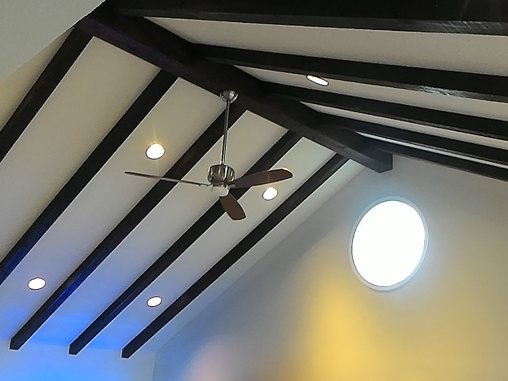 Ceiling Beams Mask and Stain